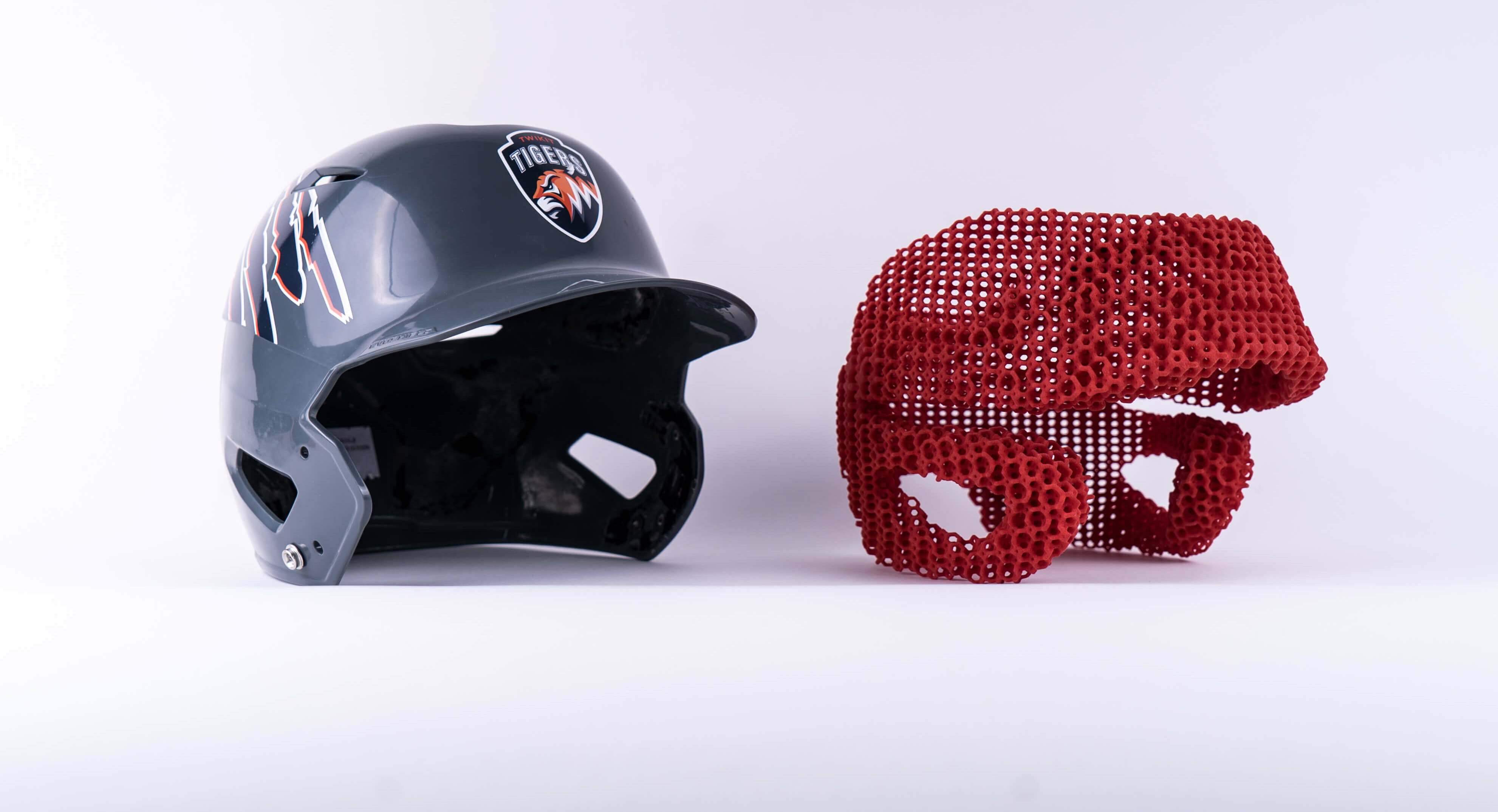 3D-printed sports helmet