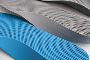 Close-up 3D-printed insole